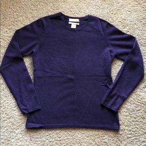 Fiona Purple Cashmere Sweater Sz Small